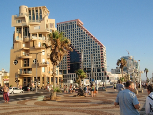 Buildings on the beachfront