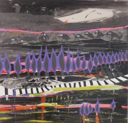 art purple trees