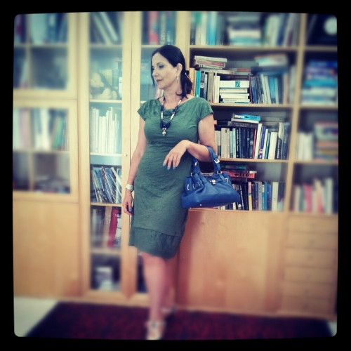 green dress with library2