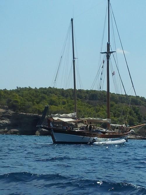 A sail boat waived hello