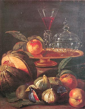 "Munari Cristoforo ""Vase, Glass and Fruit"""