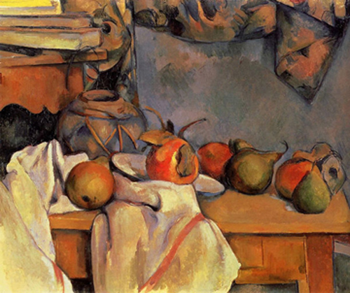 Still Life with Pomegranate and Pears  by Paul Cezanne
