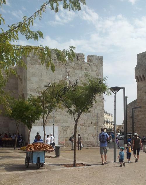 The entrance to the old city of Jerusalem