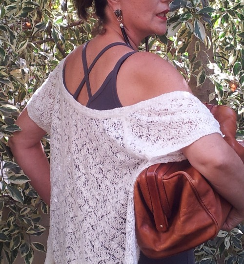 white crochet top