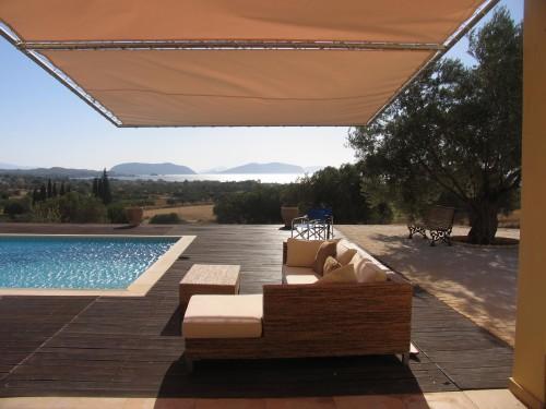 Greece villa and sea