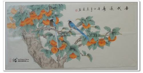 Magpie_in_Persimmon_Tree_Chinese_ink_Painting_800x800