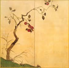 Persimmon tree by Hoitsu Sakai