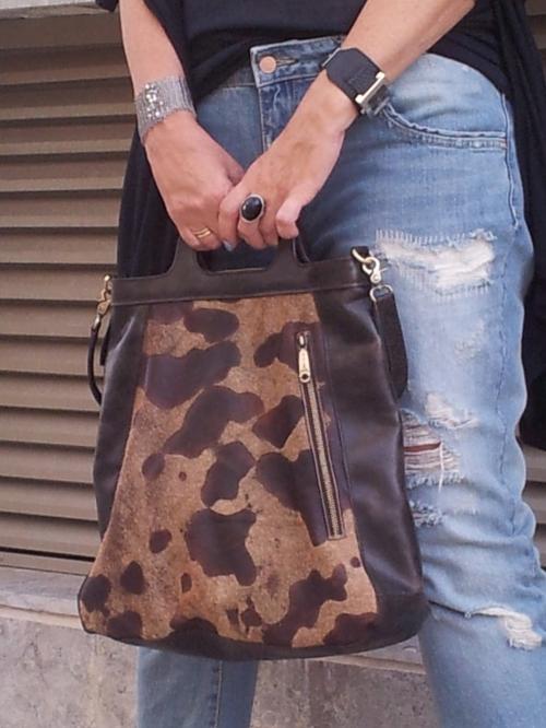 brown leather bag1