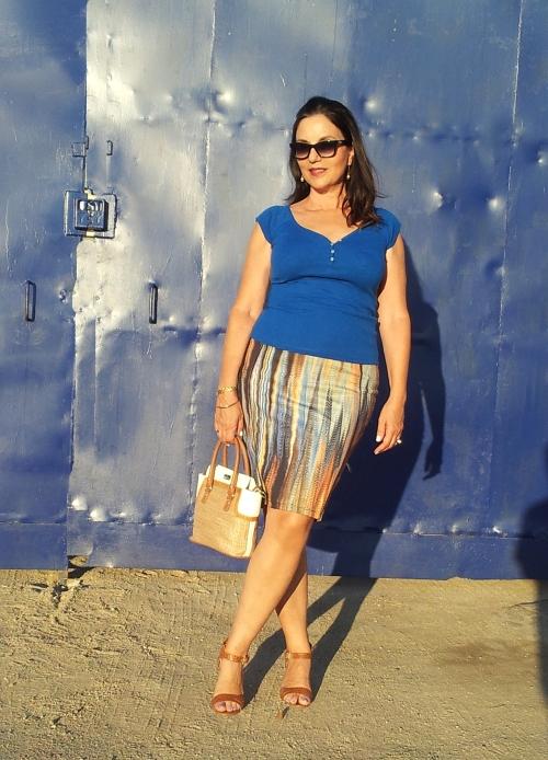 striped skirt1