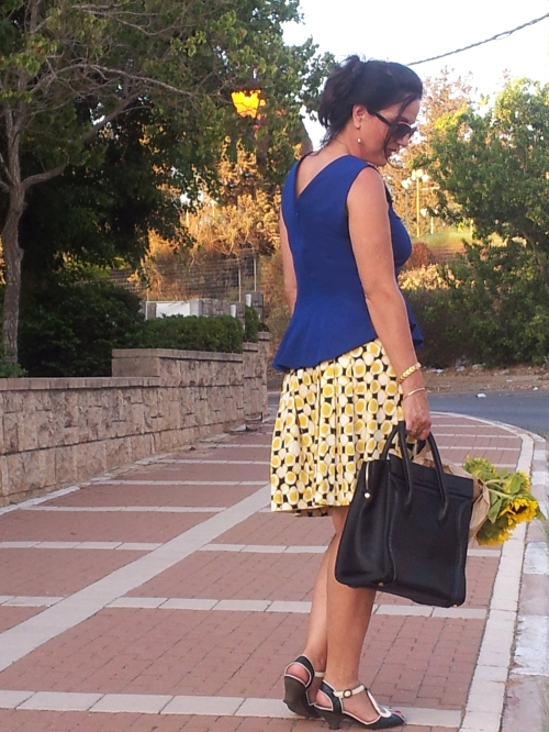 yellow pleat skirt1