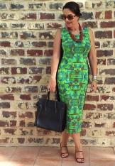 bright green dress