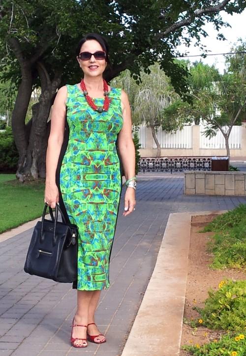 bright green long dress