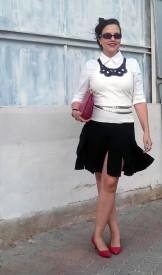 black swingy skirt