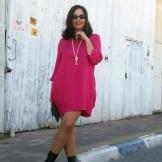 pink silk dress