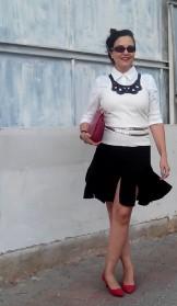 swingy black skirt