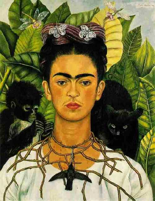 Kahlo Self-Portrait with NeckThorns