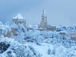 Jerusalem in snow